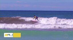 Penultima etapa do Campeonato Estadual de Surf é realizado em Cabo Frio, no RJ