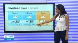 Previsão do tempo: Salvador tem chances de chuvas isoladas nesta quarta-feira (19)