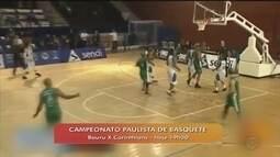 Bauru recebe o Corinthians pelo Campeonato Paulista de Basquete