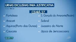 Cidades terão urnas exclusivas para justificativa, no Ceará