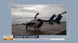Helicóptero sai para buscar corpo de capixaba que morreu atacado por tubarão nos EUA