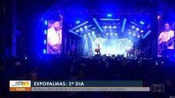 Visitantes lotam show de Bruno & Marrone na segunda noite da ExpoPalmas