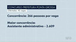 Provas de concurso público serão aplicadas neste domingo (23) em Ponta Grossa