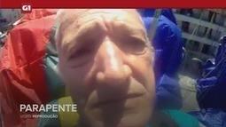G1 em 1 Minuto - Santos: Idoso filma o próprio acidente em voo em São Vicente