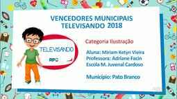Veja os alunos ganhadores do Televisando 2018 de Pato Branco