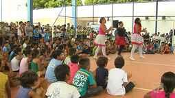 Crianças atendidas pelos Cras em Santarém participam de brincadeiras em Santarém