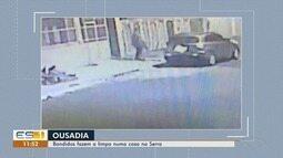 Bandidos saquearam casa no bairro Serra Dourada