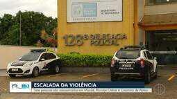 Polícia investiga 6 assassinatos entre sábado e esta segunda-feira no interior do Rio