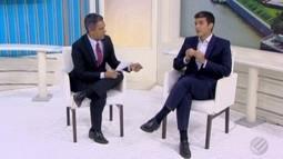Candidato Helder Barbalho (MDB) ao governo do Pará concede entrevista no JL2