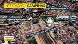 Parque Industrial, em Campinas, terá rua interditada nesta quarta-feira