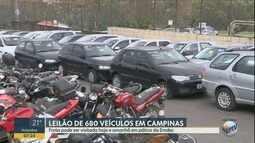 Detran vai leiloar 680 veículos em Campinas