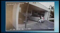 Câmeras de segurança flagram ação de criminosos em roubo a residência em Divinópolis