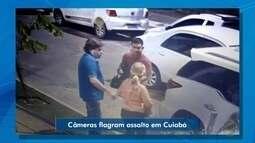 Câmera de segurança flagra assalto em Cuiabá
