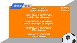 Veja os jogos da Série B do Campeonato Brasileiro