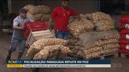 Fiscalização rigorosa causa queda nas vendas em Foz do Iguaçu