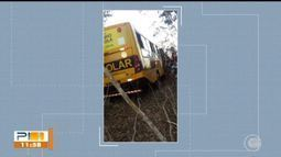 Acidente com ônibus escolar deixa crianças feridas na BR-343