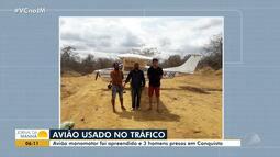 Avião usado para transportar drogas é apreendido no sudoeste do estado