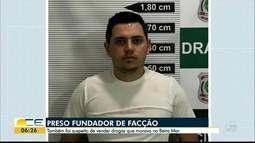 Fundador de facção é preso em Fortaleza
