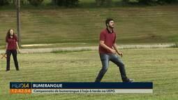 Campeonato de bumerangue acontece hoje, na UEPG
