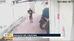 Assaltante é recebido a tiros por dono de empresa no município de Caucaia