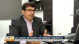 Perícia apontou excesso de peso em distribuição de boia em morte no Parque Aquático