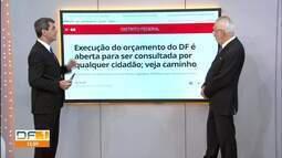 Execução do orçamento do DF é aberta para consulta popular