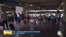 Rodoviária do Recife tem expectativa de grande movimento no início do feriadão