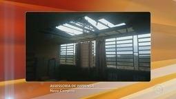 Temporal destelha escola municipal de Nova Campina