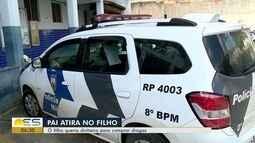 Pai atira em filho durante briga por dinheiro para comprar drogas, em Colatina