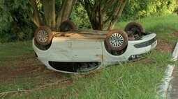 Capivaras em pista provocam capotagem de carro em Campo Grande