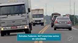 PRF já multou 467 motoristas por dirigirem acima da velocidade permitida em rodovias de MS