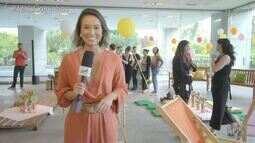 Cris Ikeda participou do lançamento da nova série da Globo