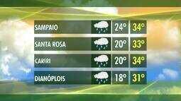 Confira como fica a previsão do tempo para este domingo (9)
