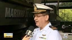 Navios da Marinha abrem para visitação guiada no Amapá pelo 'Dia do Marinheiro'