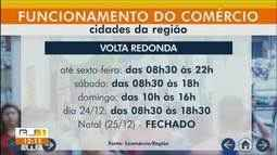 Comércio funciona em horário especial para compras de Natal no Sul do Rio