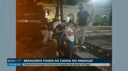 Traficantes brasileiros fogem de prisão no Paraguai