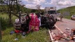 Corpos das cinco pessoas que morreram em acidente na BR-259 serão enterrados nessa quarta
