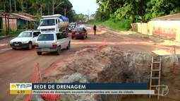 Problemas de drenagem causam alagamentos em Santarém nos dias de chuva