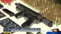 A experiência de catarinenses e a opinião de Polícias sobre armas de fogo em SC