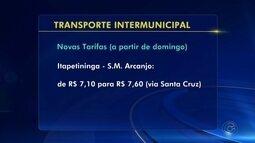Tarifa de ônibus intermunicipal aumenta na região de Itapetininga