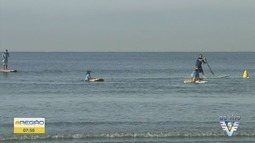 Praia Grande tem aulas de surfe e stand-up paddle de graça