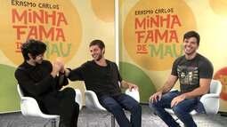 """Jonas Almeida foi conversar com o elenco do filme """"Minha fama de mau""""."""