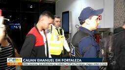 Cauan Emanuel chega a Fortaleza. Atleta sobreviveu ao incêndio no CT do Flamengo