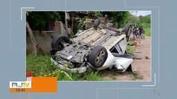 Capotamento deixa dois mortos e três feridos na BR-101, em Silva Jardim, no RJ
