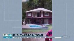 Laboratório de refino de cocaína é fechado em Guarapari, no ES