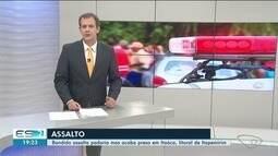 Criminoso assalta padaria mas acaba preso em Itaóca, litoral de Itapemirim