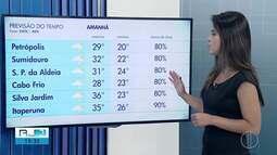 Confira a previsão do tempo para esta quarta-feira (20) no interior do Rio
