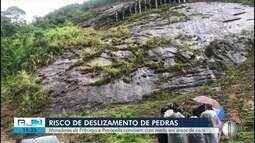 Moradores de Petrópolis e Nova Friburgo, RJ, convivem com risco de deslizamento de pedras