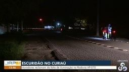 Falta de iluminação pública no bairro do Curiaú causa transtornos à comunidade