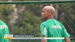 Deyverson está de saída do Palmeiras, mas Roger Guedes pode voltar para o São Paulo